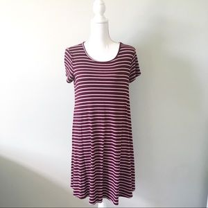 One Clothing Ribbed Striped T-Shirt Dress